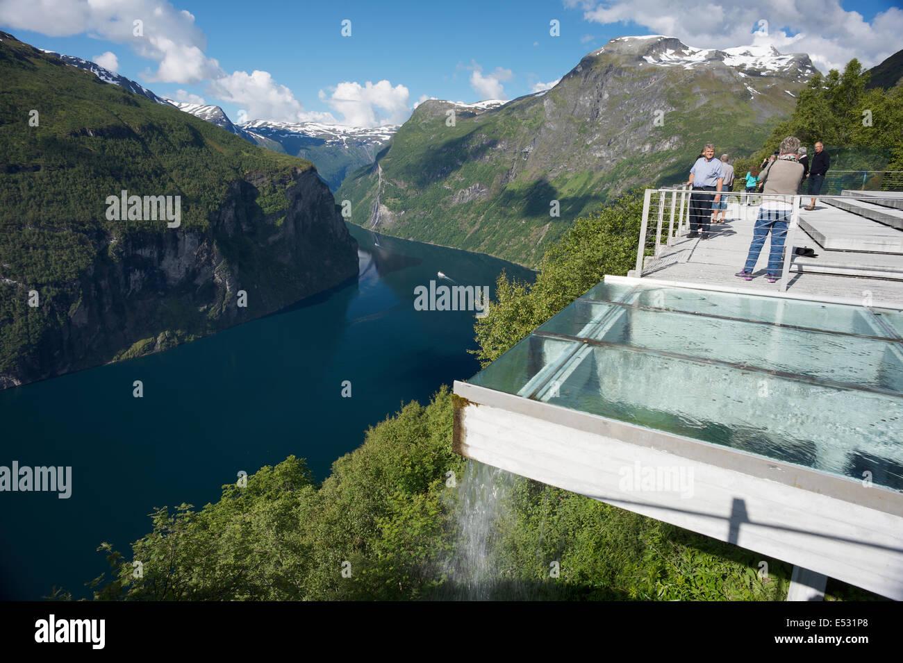 Ornesvingen View Point Geiranger Stockbild