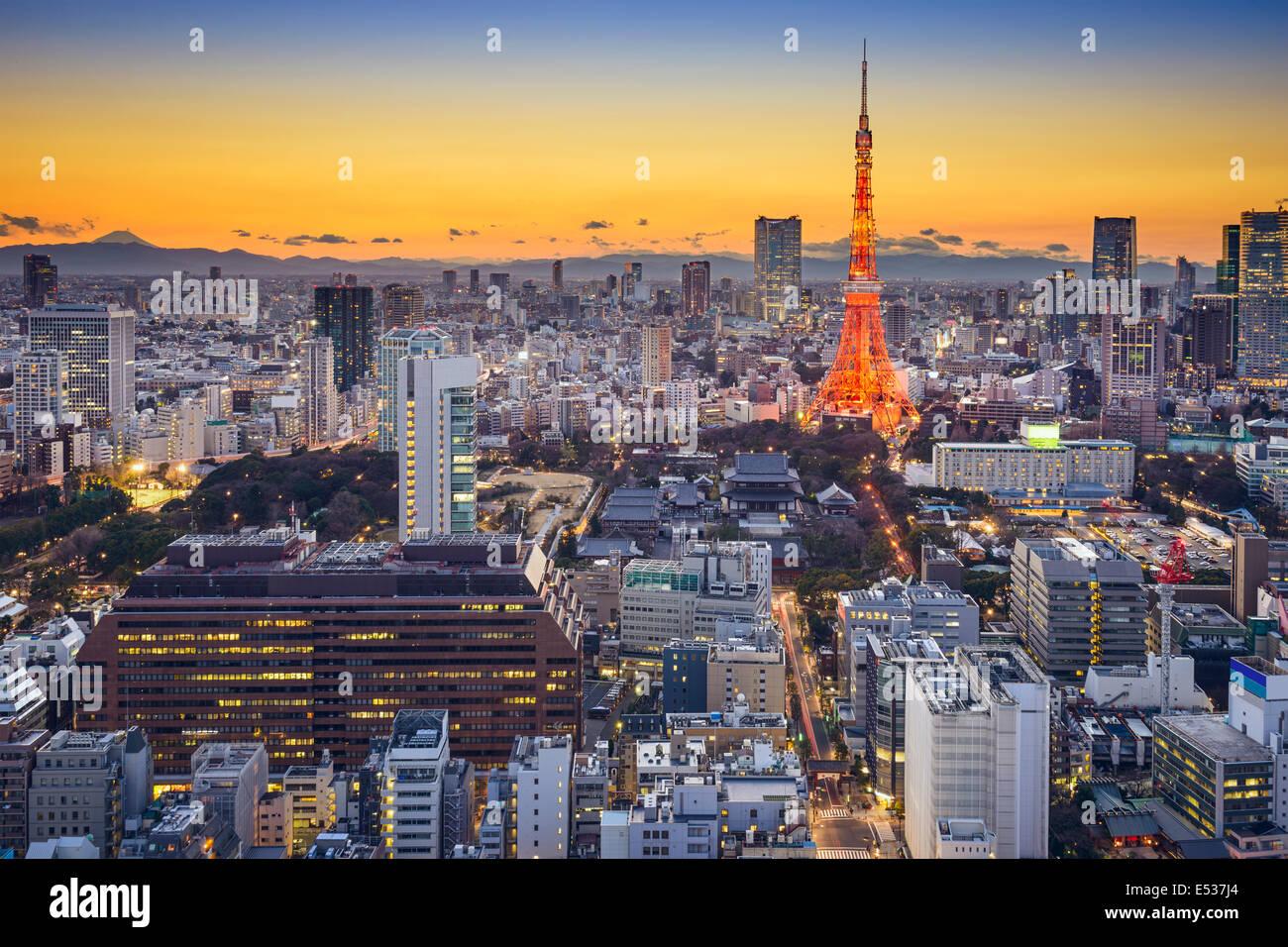 Tokyo, Japan-Skyline in Minato Ward. Stockfoto