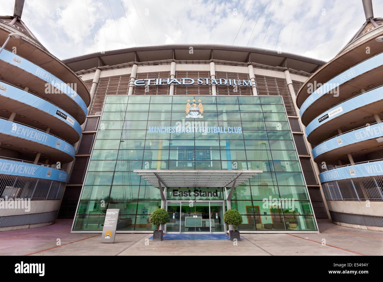 Etihad Stadium Ist Heimat Von Manchester City Englischen