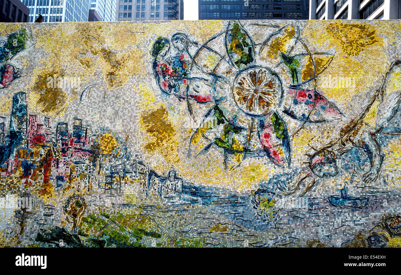 Die Vier Jahreszeiten Mosaik Des Franzosischen Kunstlers Marc