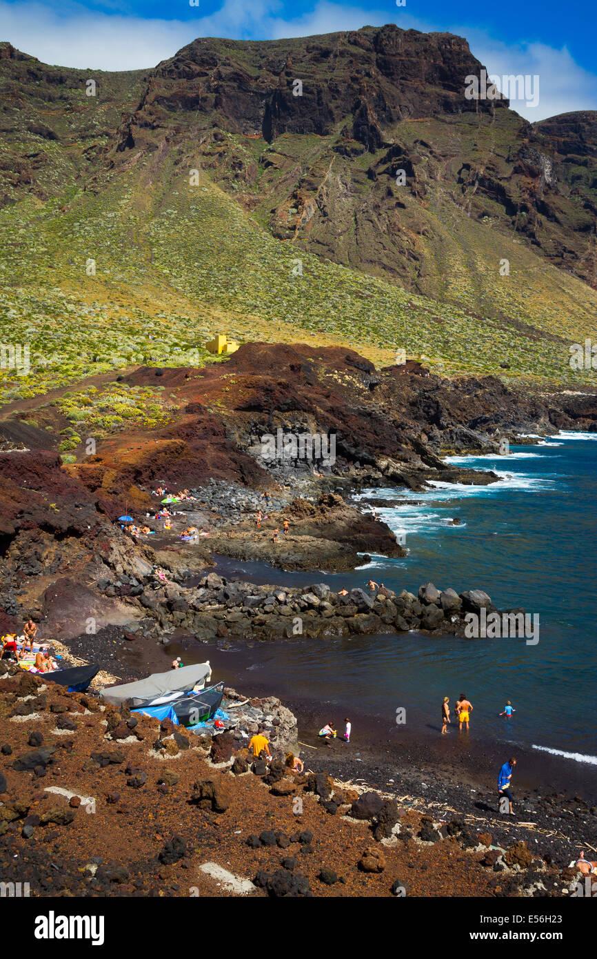 Strand in Punta Teno. Teneriffa, Kanarische Inseln, Atlantik, Spanien, Europa. Stockbild