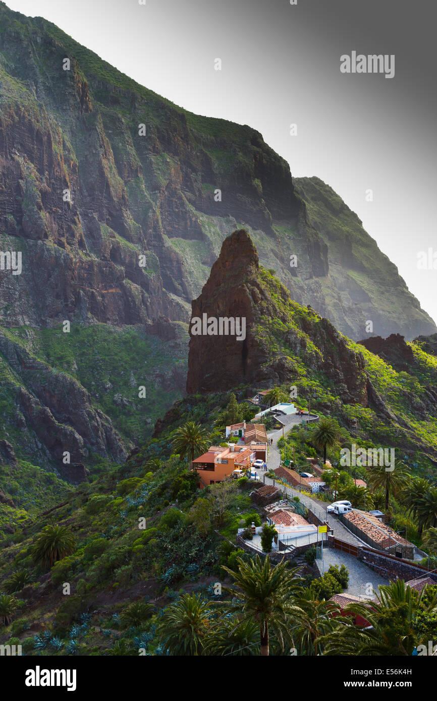Masca, Teno Naturpark. Buenavista del Norte. Teneriffa, Kanarische Inseln, Atlantik, Spanien, Europa. Stockfoto