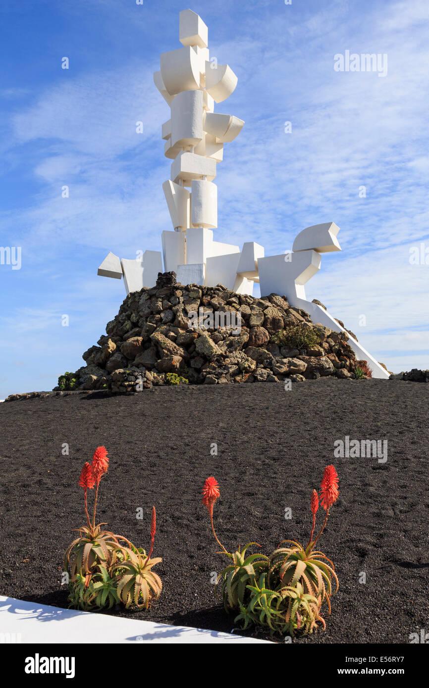 Monumento ein la Fecundidad oder Bauern Skulptur von César Manrique am Monumento al Campesino-Lanzarote-Kanarische Stockbild