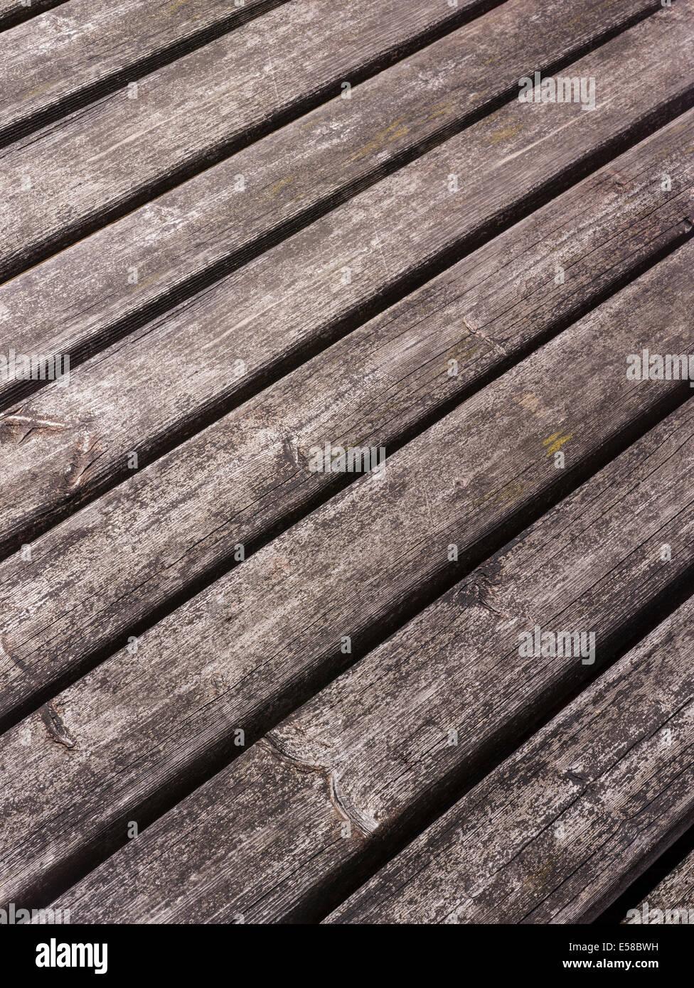 Ein verwittertes Holz Hintergrund geplant Stockbild