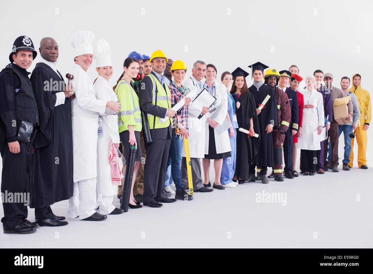 Porträt von diversen Arbeitnehmer Stockbild