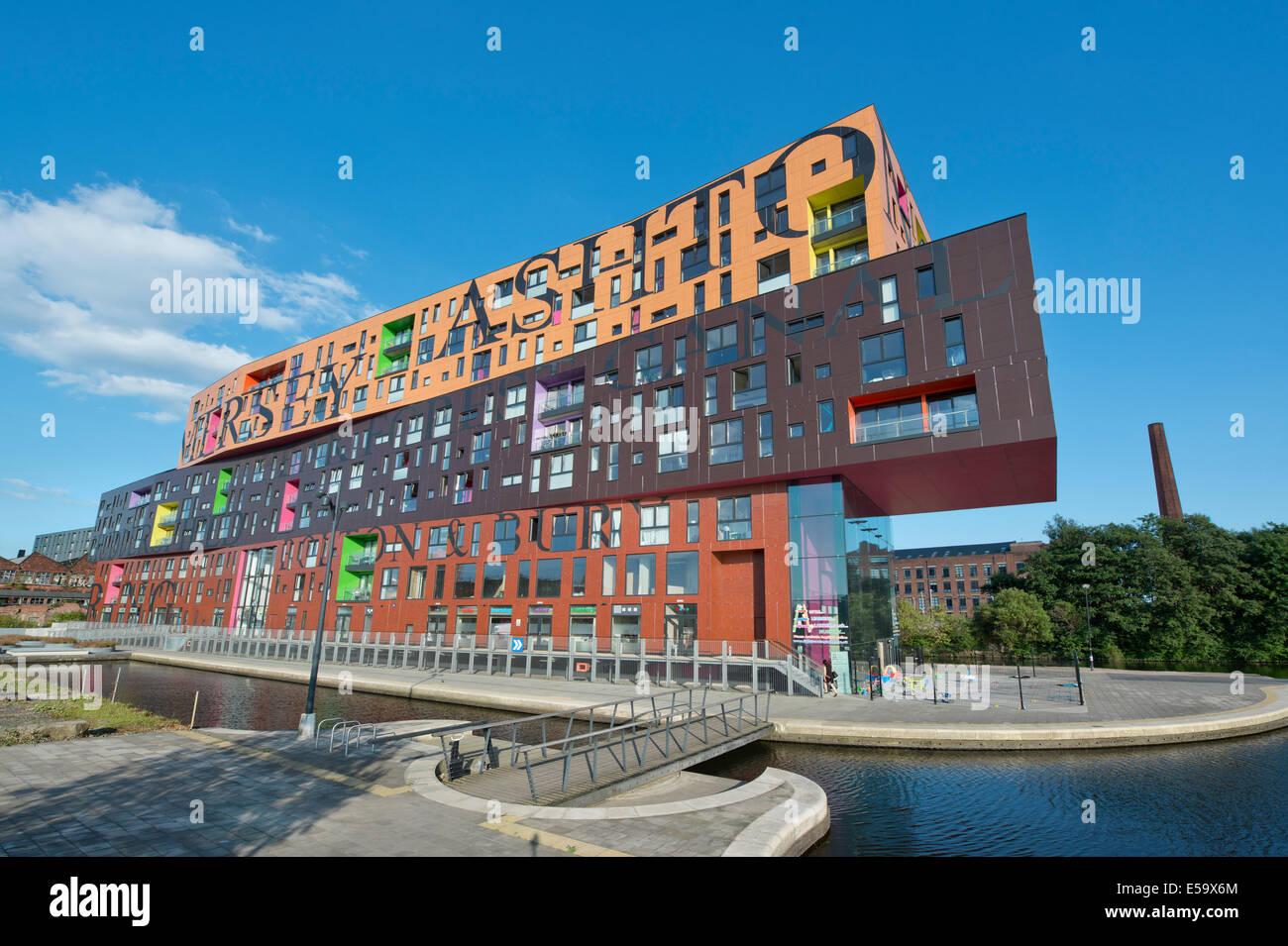Die Chips postmodernen Wohngebäude von Will Alsop entworfen und im Besitz von Urban Splash, befindet sich im Stockbild