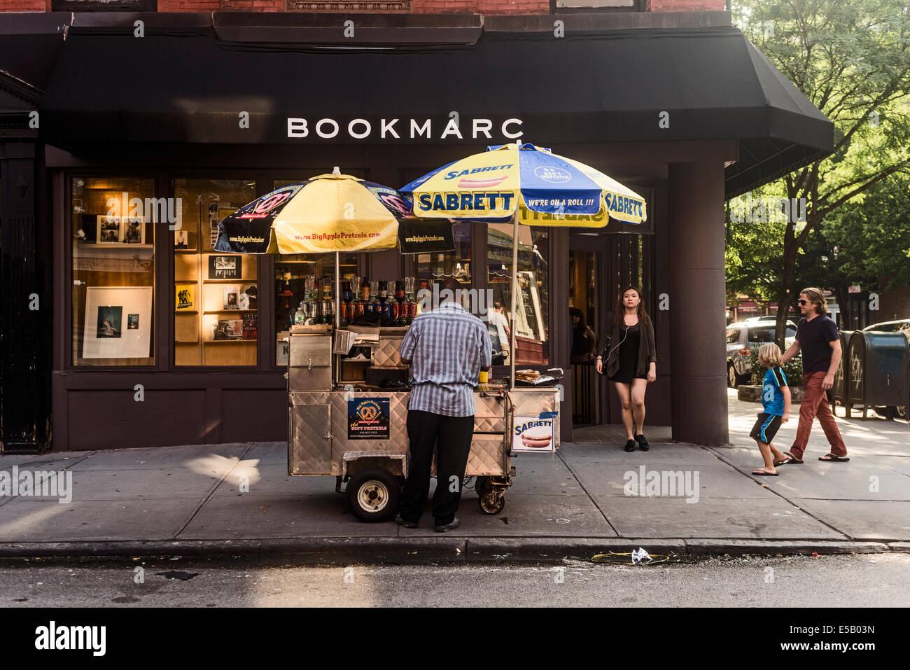New York, NY - 25. Juli 2014 - Marc Jacobs Buchladen an der Bleecker Street Stockbild