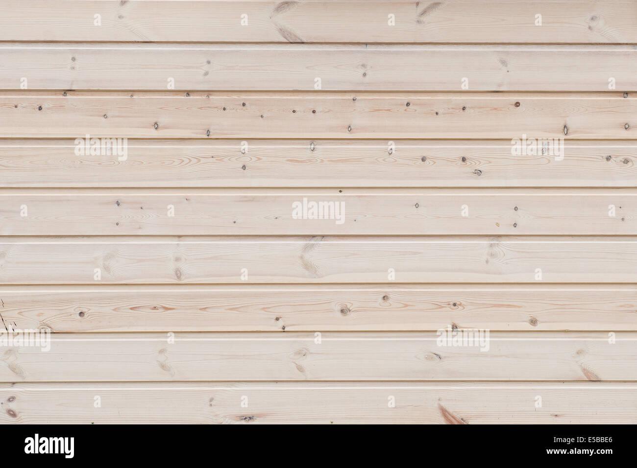 hölzerne Hintergrund - horizontal gestapelten Fichtenbrettern Stockbild