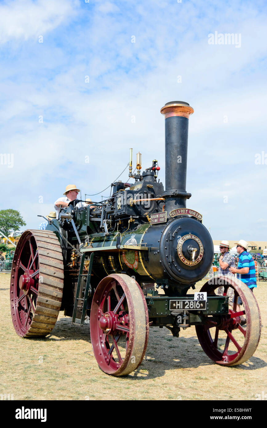 Dampftraktor bei Welland Rally & Show, Worcestershire, UK. Stockbild