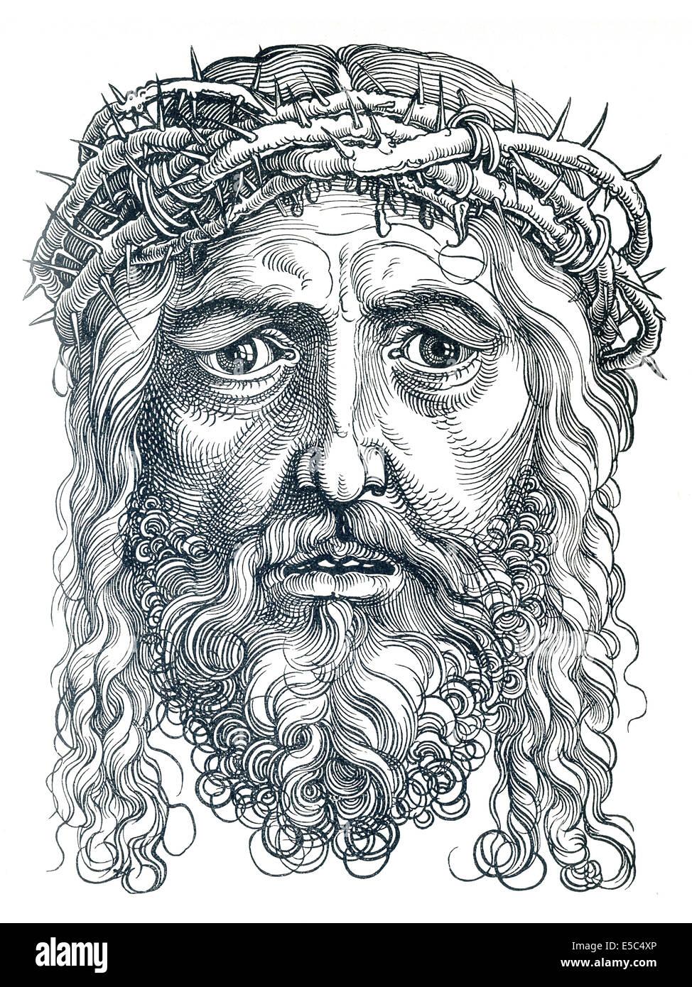 Albrecht Dürer (1471-1528) war ein deutscher Künstler, bekannt für seine Drucke und Zeichnungen von Stockbild