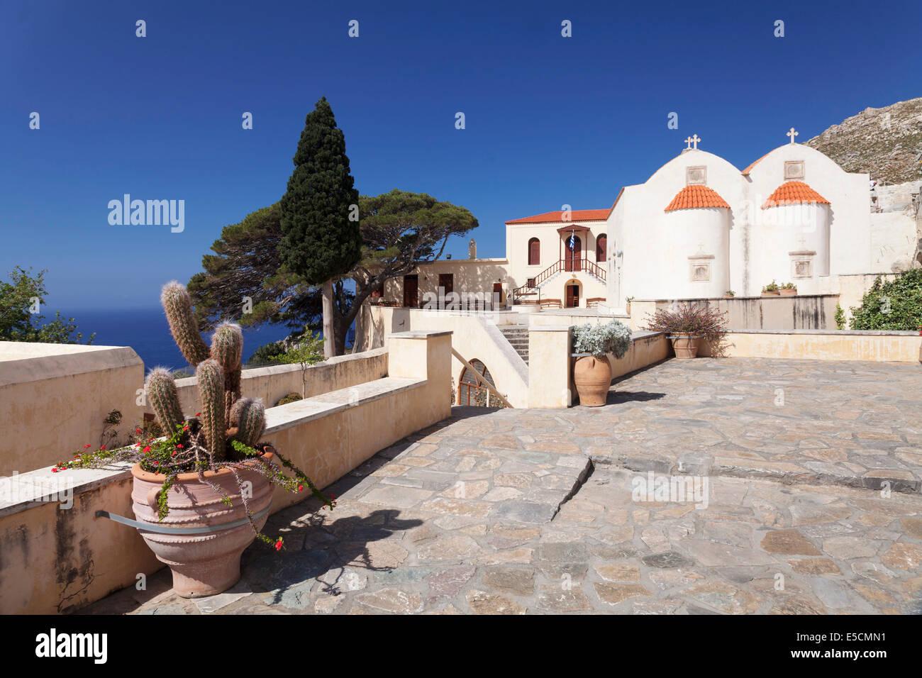 Kloster Preveli, Rethymno, Kreta, Griechenland Stockbild