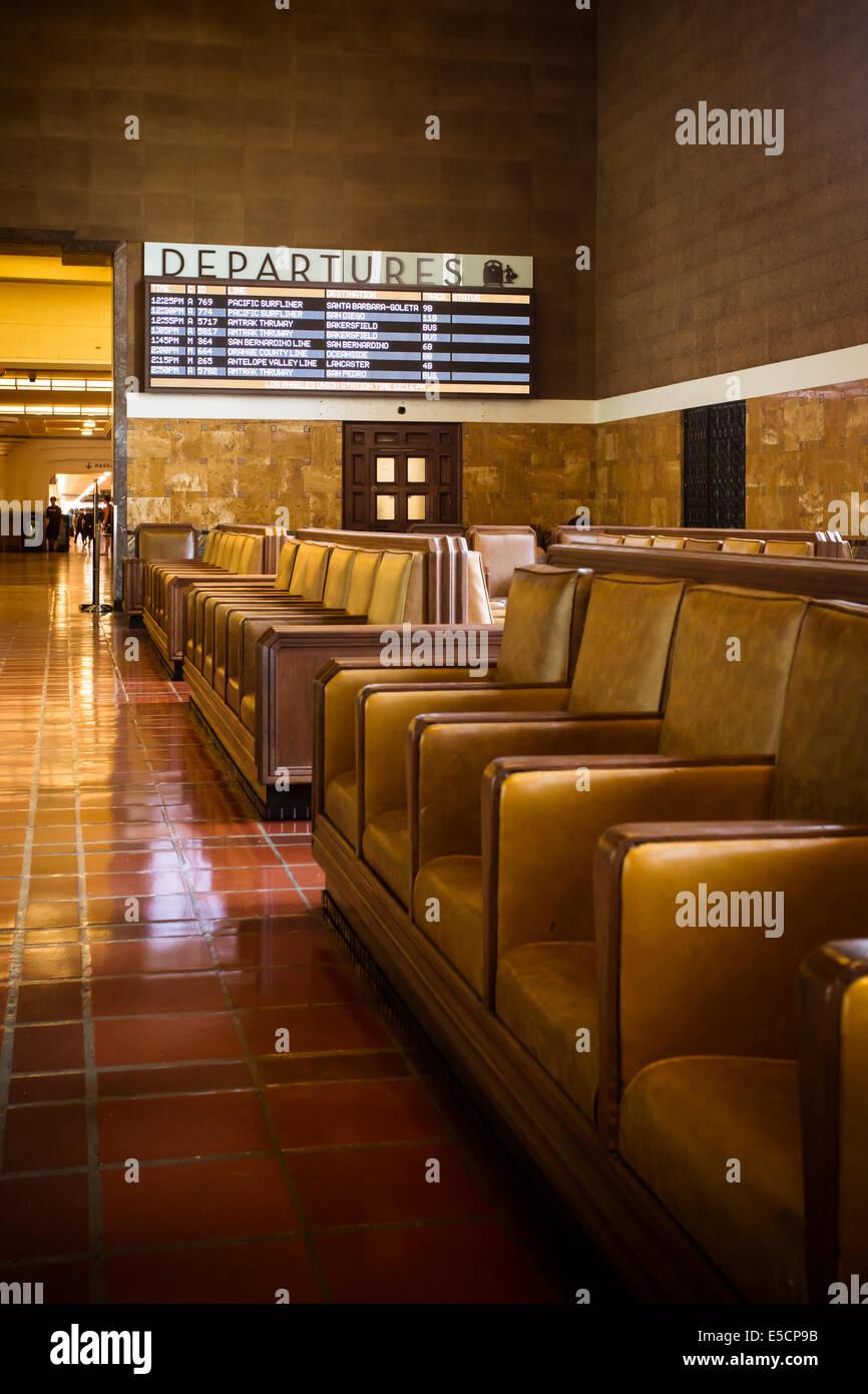 Die restaurierten Art-Deco-Interieur der Union Station in Los Angeles, Kalifornien, USA Stockfoto