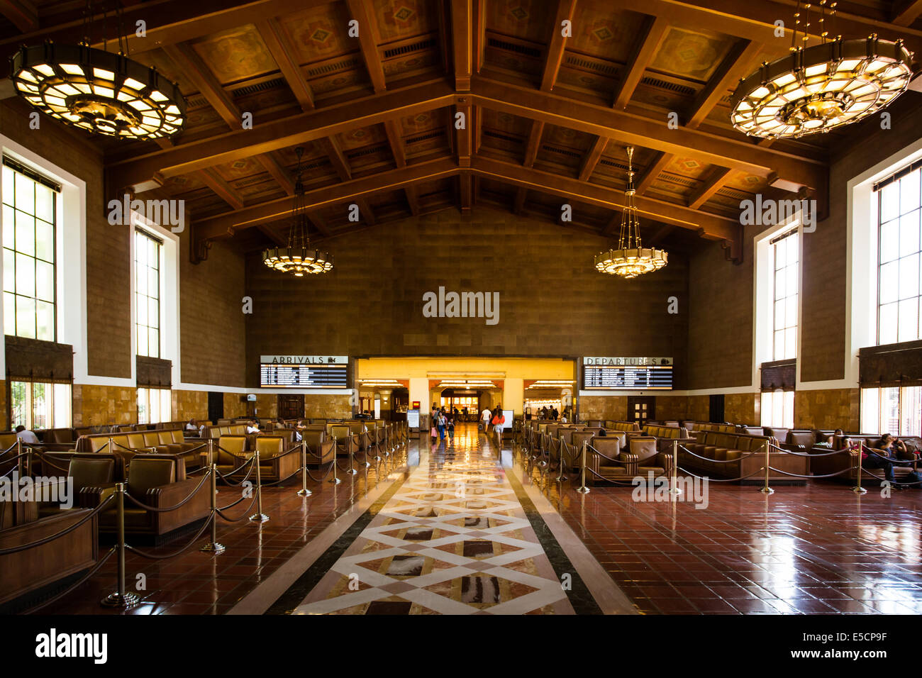 Art Deco Interieur : Die restaurierten art deco interieur der union station in los