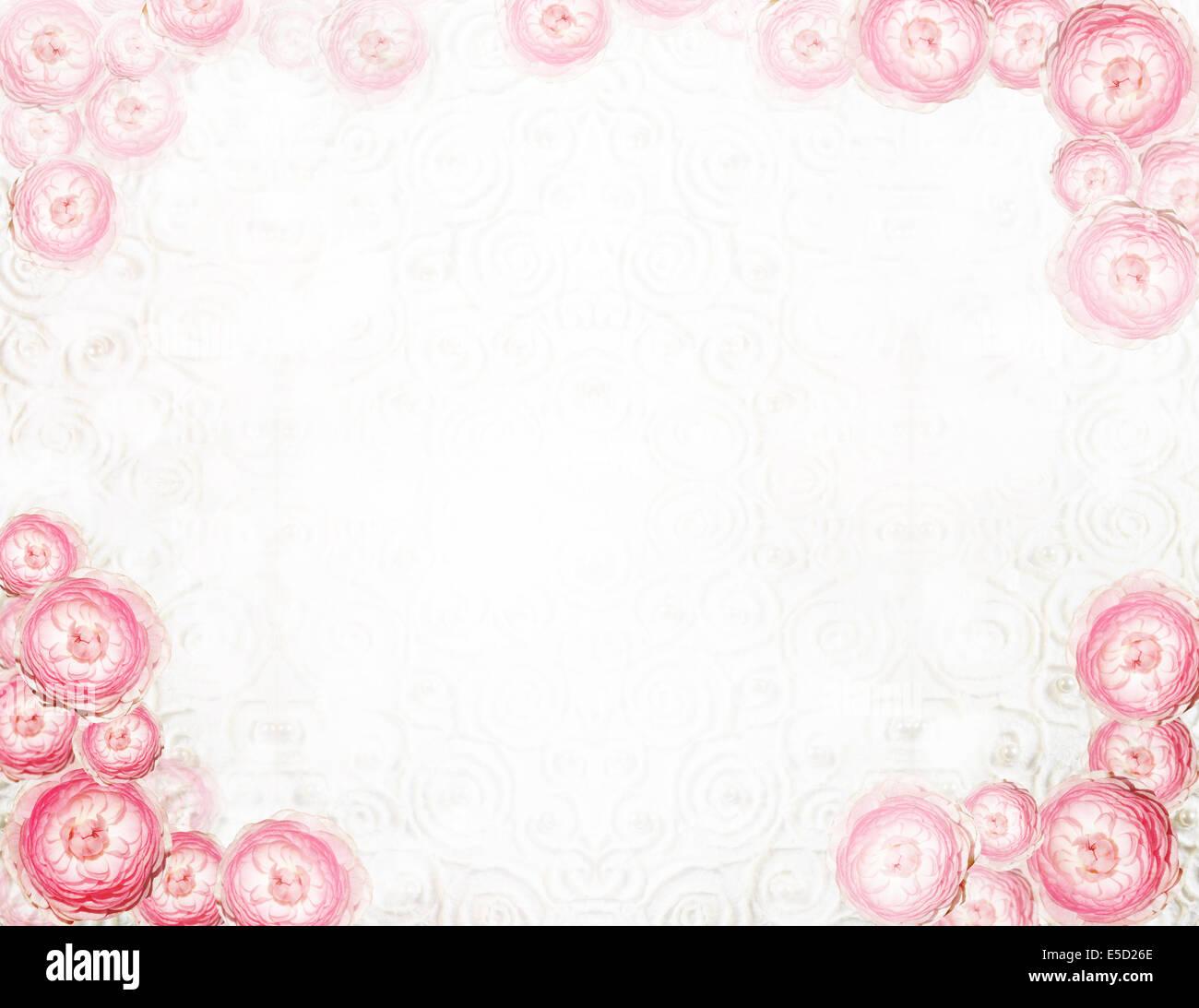 Anordnung. Abstrakte festliche Blumenkarte Stockbild