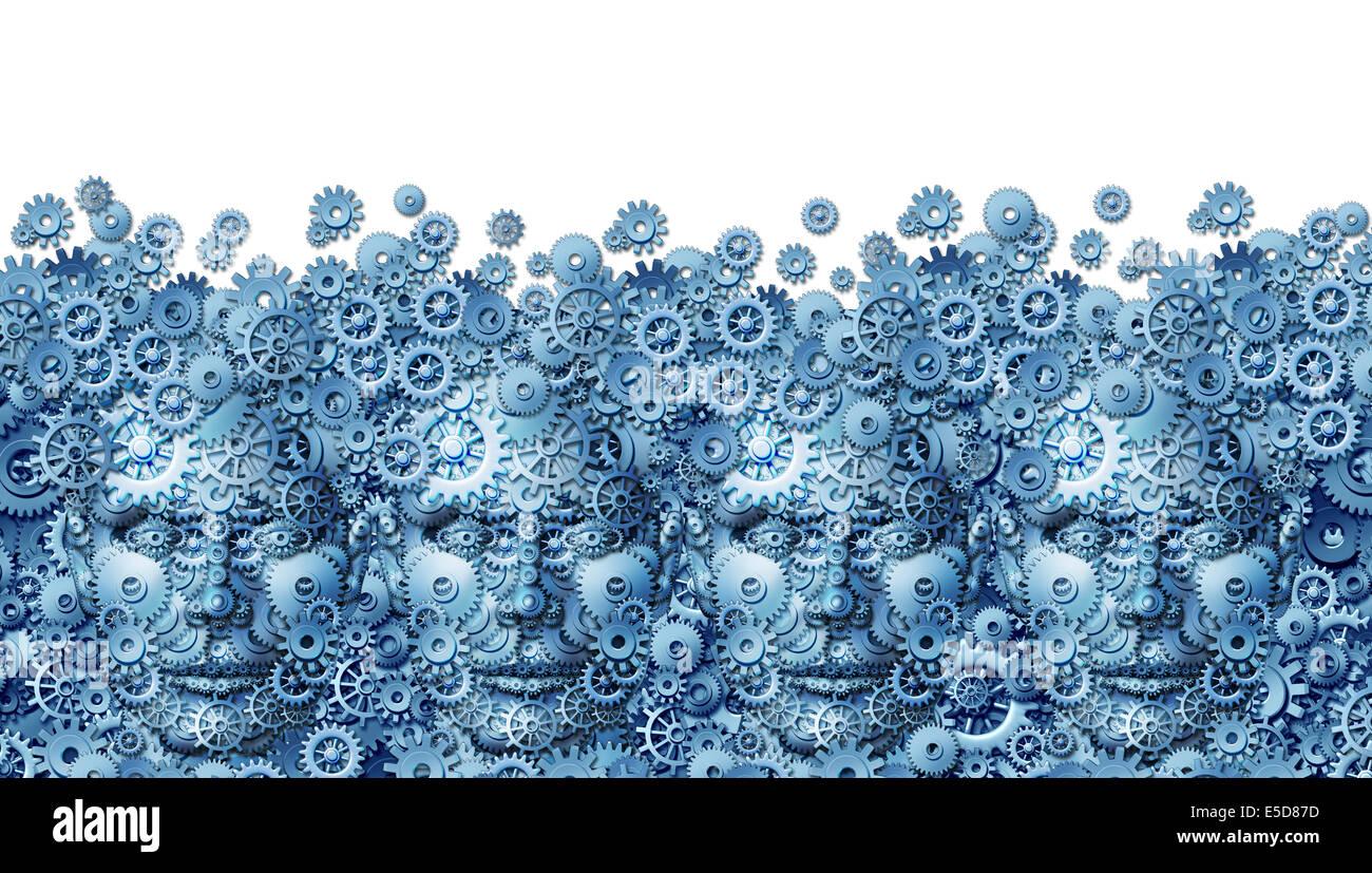 Teamarbeit-Konzept als Geschäft Arbeitsgruppe von menschlichen Köpfen geformt mit Maschine Getriebe und Stockbild
