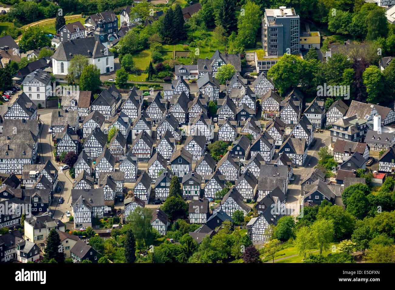 Antenne Zu Sehen Fachwerkhäuser Alter Flecken Altstadt