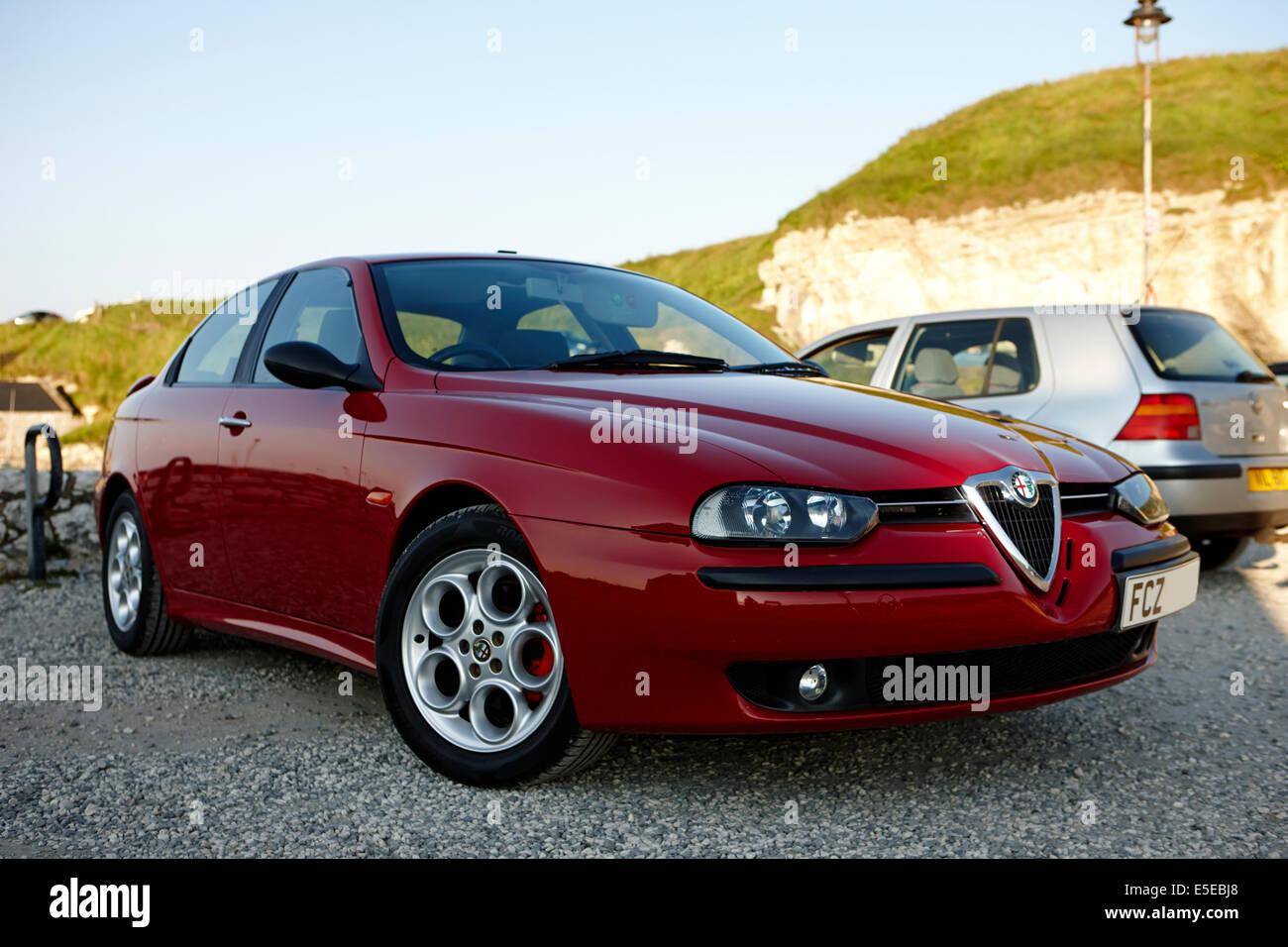 Alfa Romeo 156 geparkt Stockbild