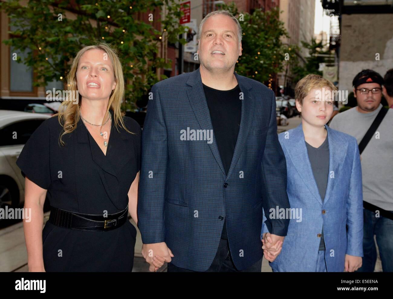 New york ny usa. 29. juli 2014. vincent donofrio mit frau carin
