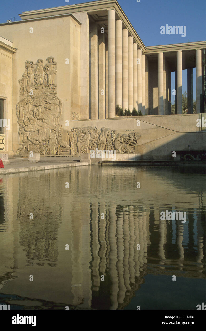 Frankreich, Paris 16e, Palais de Tokyo, Flachrelief, Alfred janniot ...