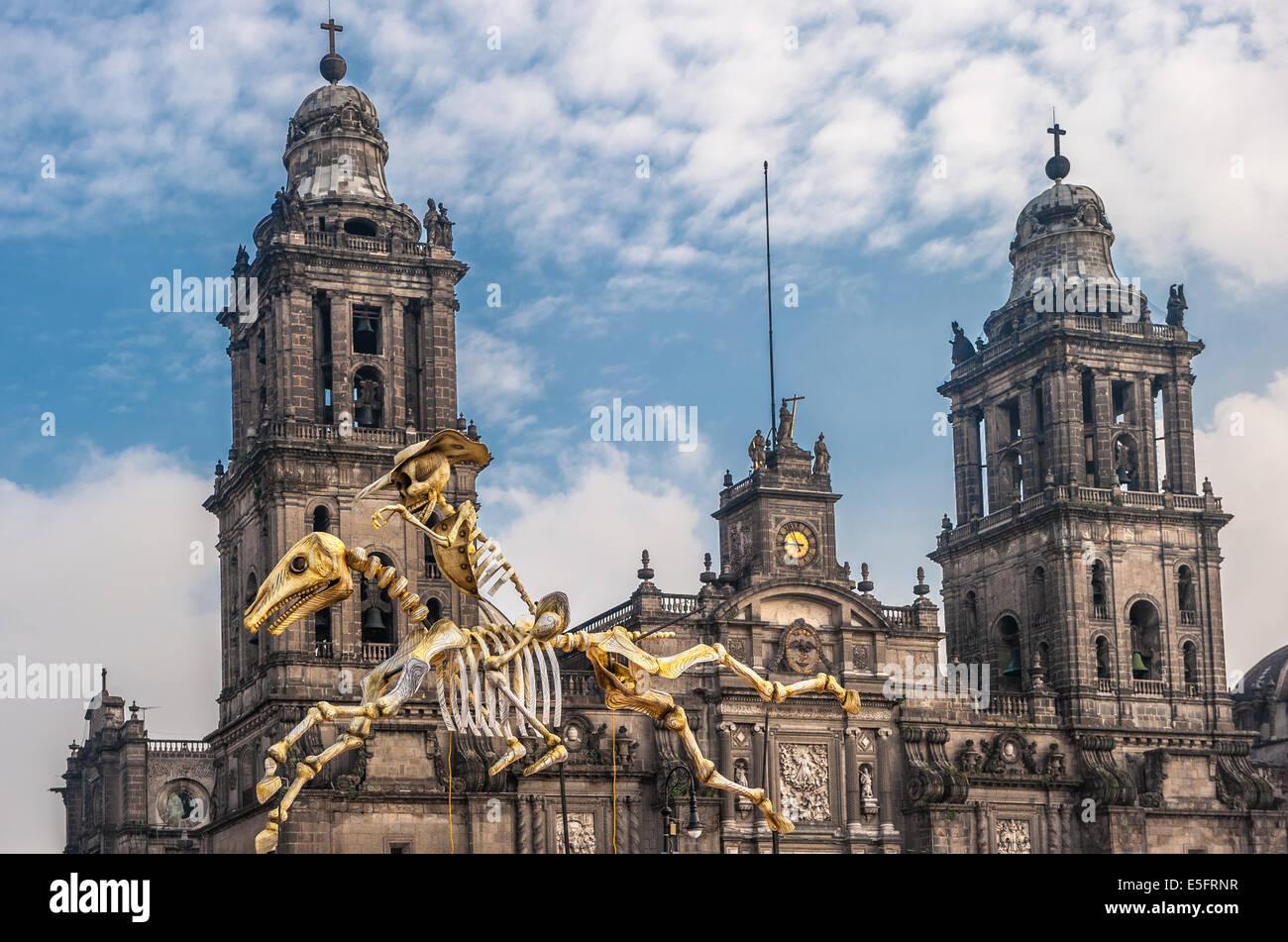 Tag der Toten in Mexiko-Stadt, Dia de Los muertos Stockbild