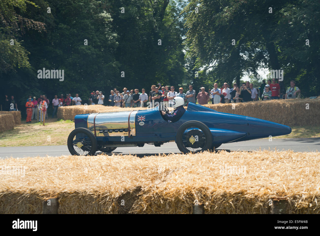 Auto absteigend Goodwood Bergrennen beim Goodwood Festival of Speed Stockbild