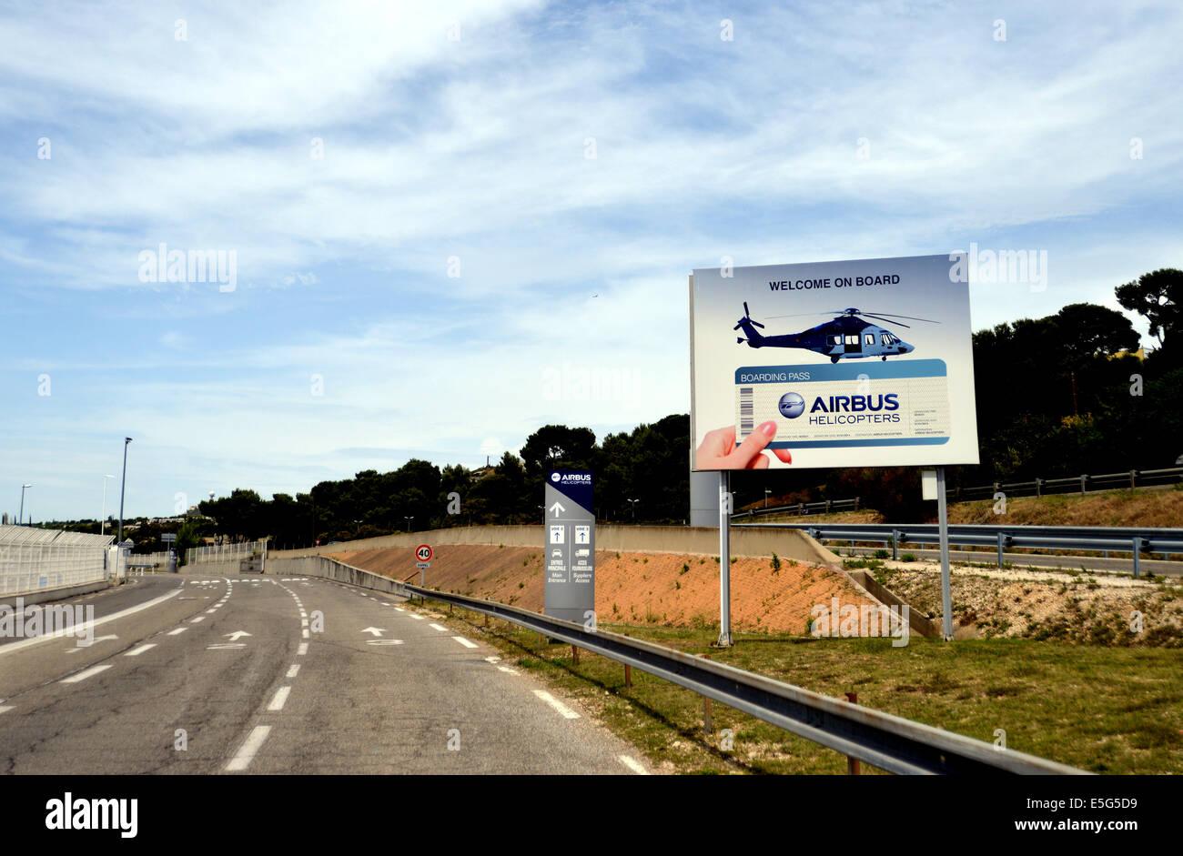 Eintrag von Airbus Helicopters Industrie Marignane Bouches-du-Rhône, Frankreich Stockbild