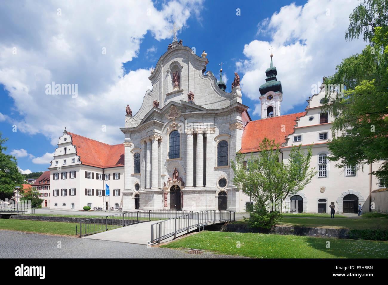 Kloster mit der barocken Kathedrale von Zwiesel, schwäbischen Alb, Baden-Württemberg, Deutschland Stockbild