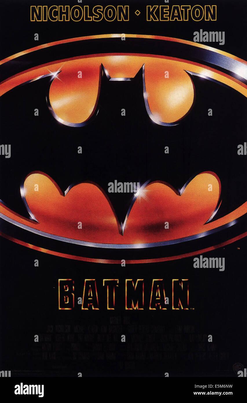 BATMAN Poster, 1989 Stockbild