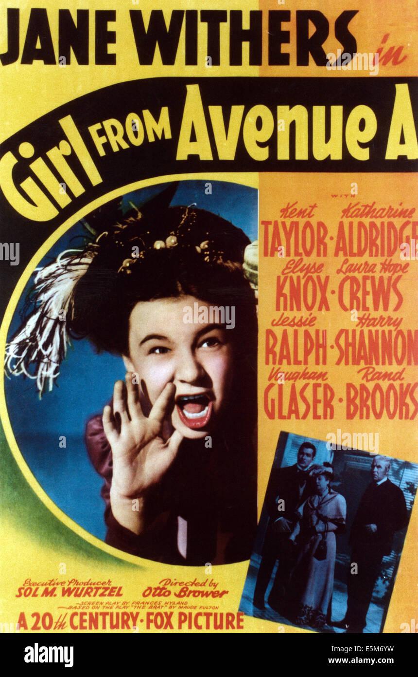 Mädchen aus AVENUE A, Jane Withers, 1940, TM & Copyright © 20th Century Fox Film Corp./Courtesy Everett Stockbild