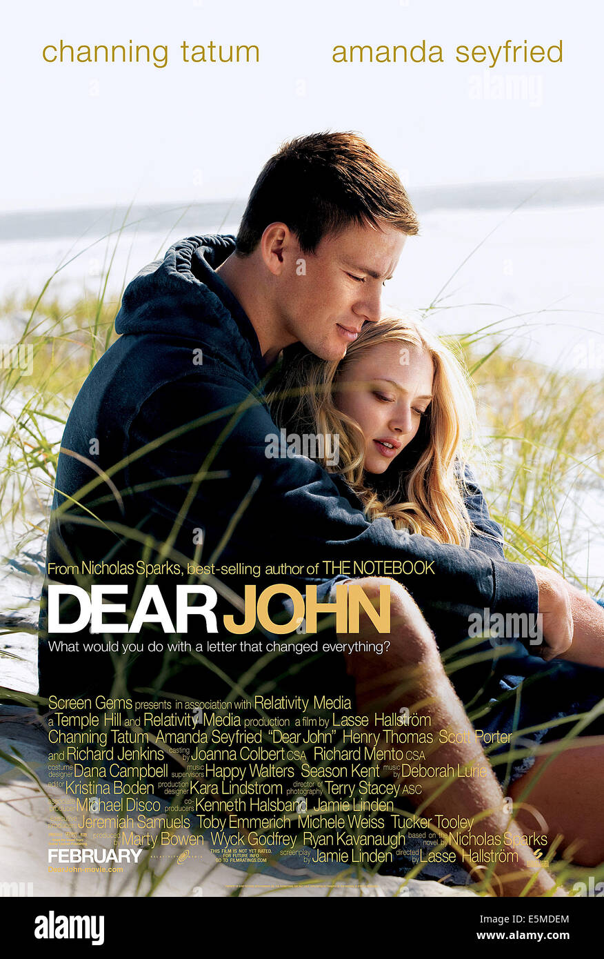 DEAR JOHN, von links: Channing Tatum, Amanda Seyfriend, 2010. © Screen Gems/Courtesy Everett Collection Stockbild
