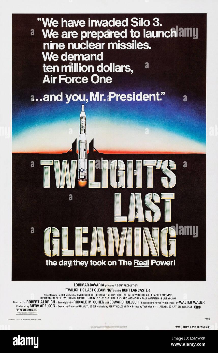 TWILIGHT es letzten glänzenden, Plakatkunst, 1977. Stockbild