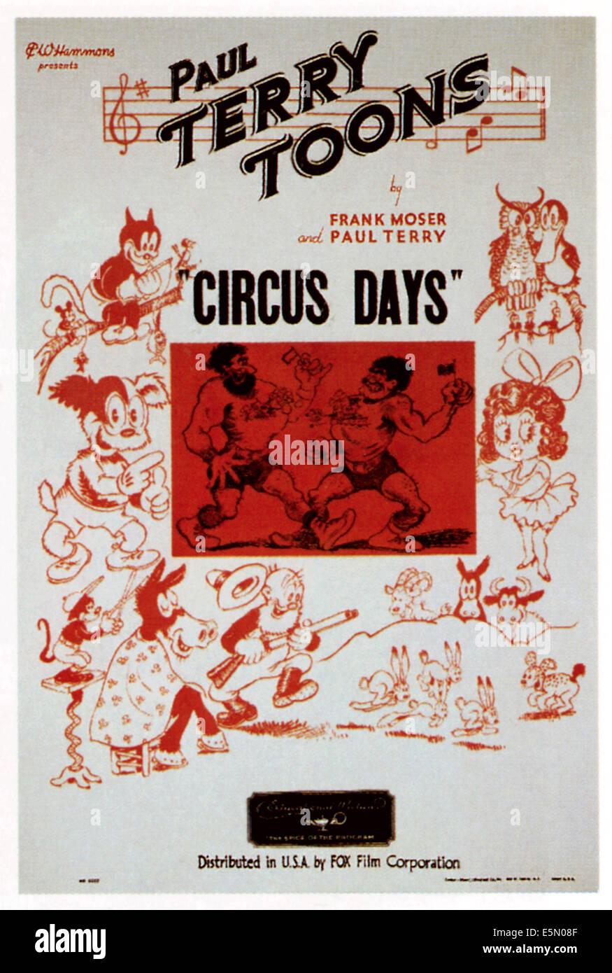 Zirkus-Tage, 1935, TM und Copyright © 20th Century Fox Film Corp. Alle Rechte vorbehalten. / Höflichkeit Stockbild