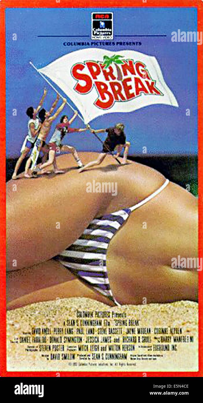 SPRING BREAK, Plakatkunst, 1983 Stockbild