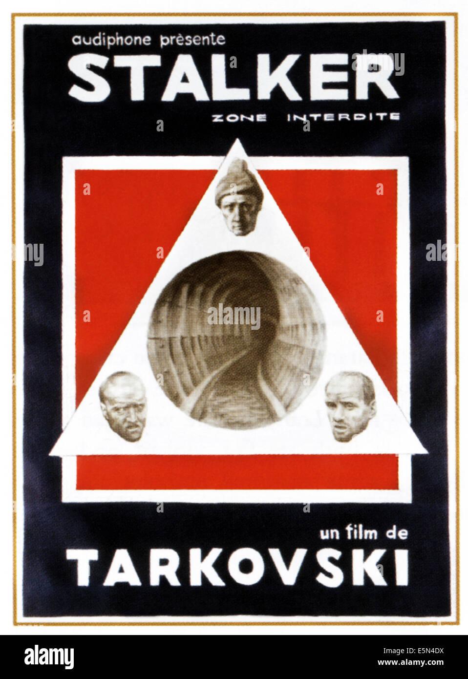 STALKER, der 1980er Jahre russische Poster, 1979. Stockbild