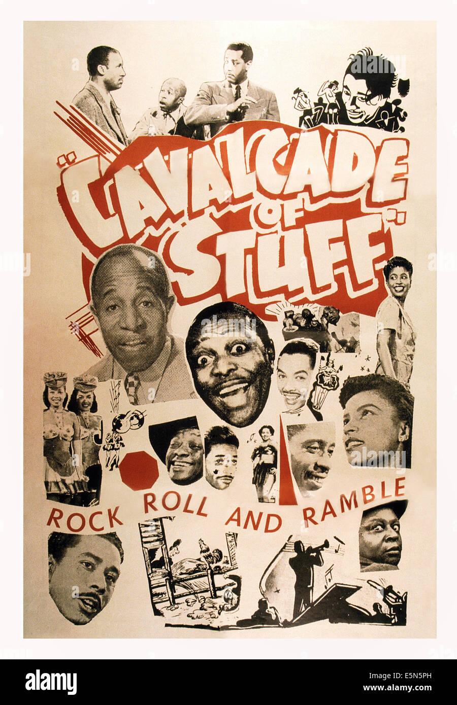 Kavalkade von Sachen, US-Plakat, Mantan Moreland (unten rechts), ca. Anfang der 1950er Jahre Stockbild