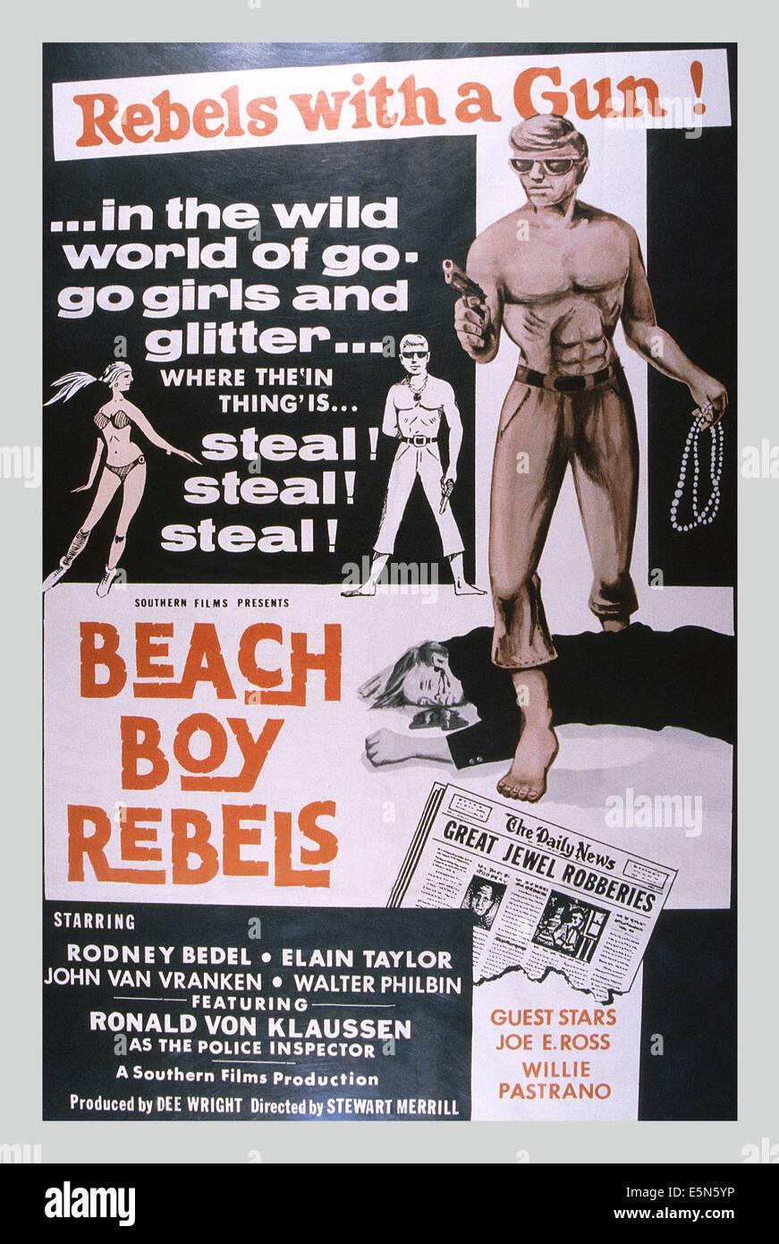 BEACH BOY Rebellen, Rodney Bedel, ca. 1970 Stockbild