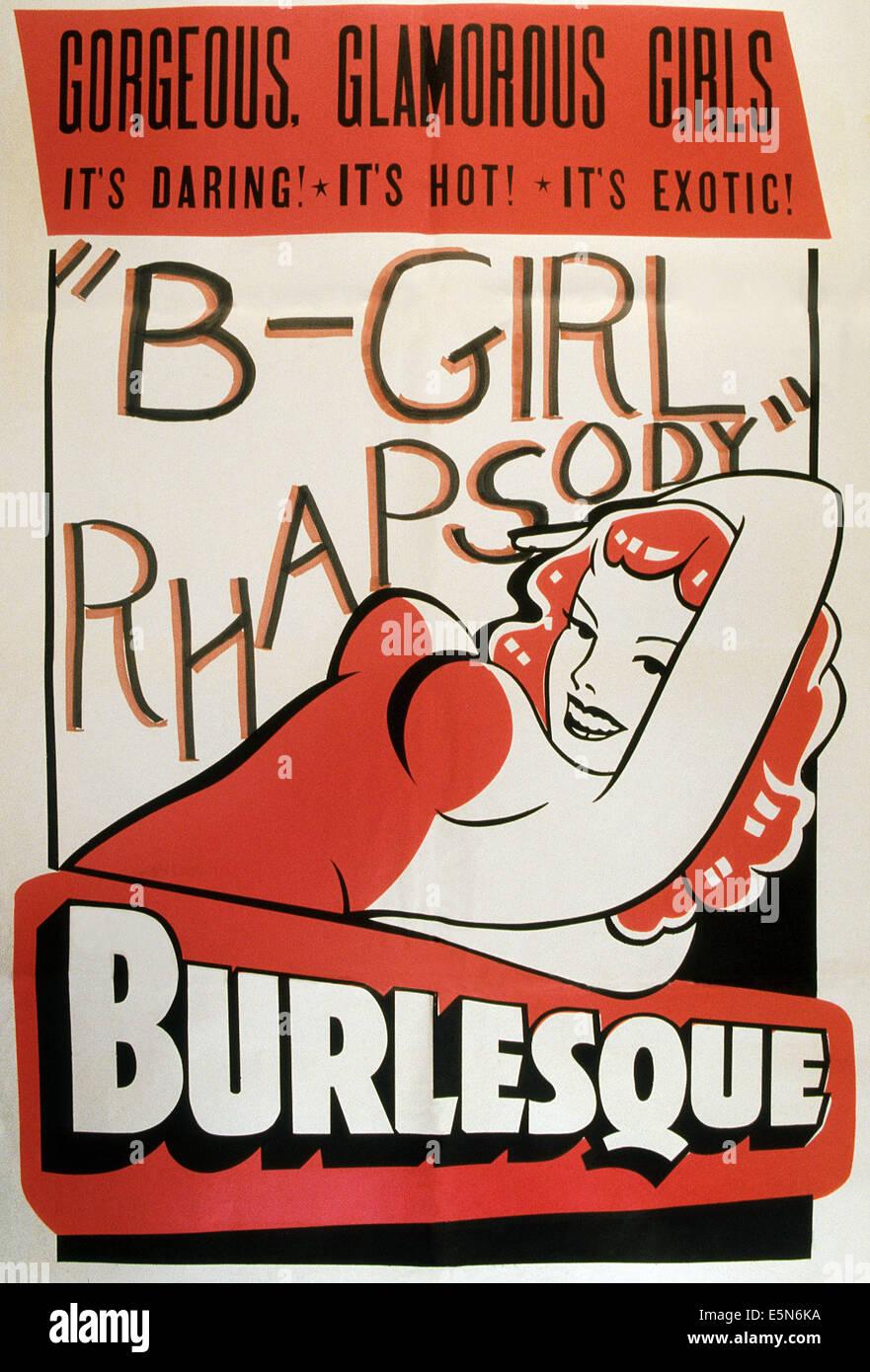 'B' GIRL RHAPSODIE, 1952 Stockbild