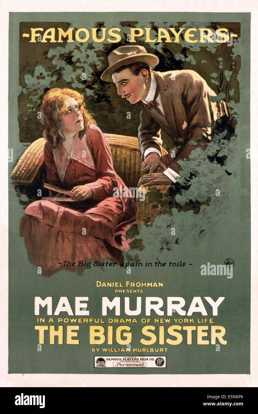 DIE große Schwester, Mae Murray (links), 1916 Stockbild