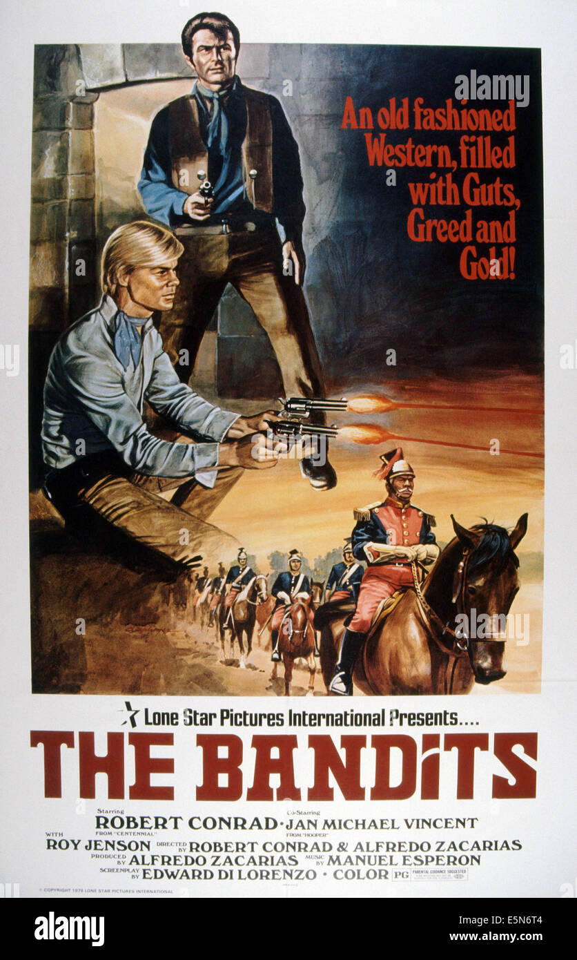 Die Banditen Us Plakat Oben Von Links Jan Michael Vincent