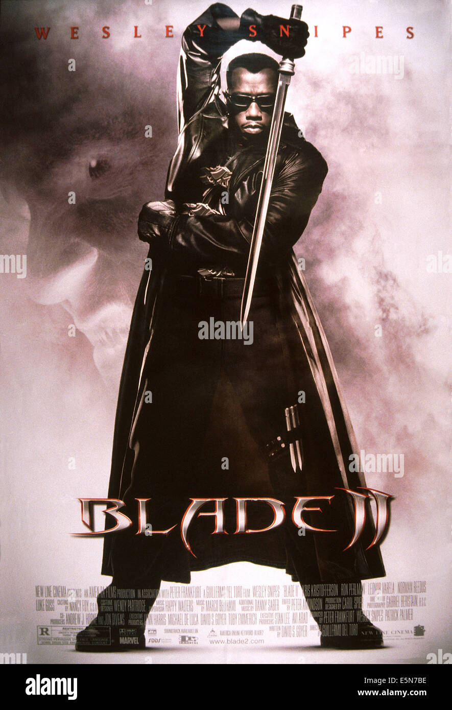 BLADE II, Wesley Snipes, 2002, © New Line/Courtesy Everett Collection Stockbild