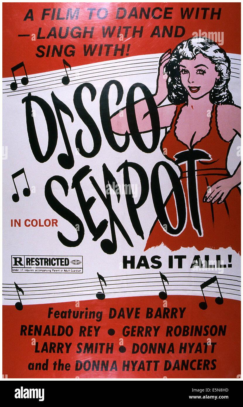 DISCO-SEXBOMBE, ca. 1970er Stockbild