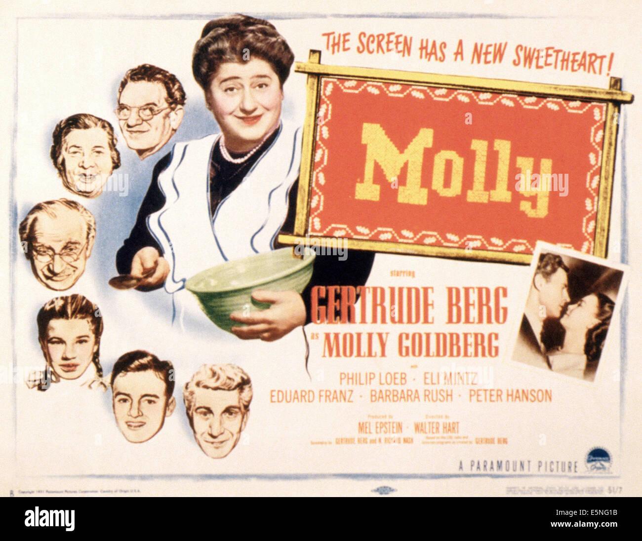 MOLLY, (aka THE GOLDBERGS), Philip Loeb, Eli Mintz, Sarah Krohner, Larry Robinson, Gertrude Berg, Arlene McQuade, Stockbild