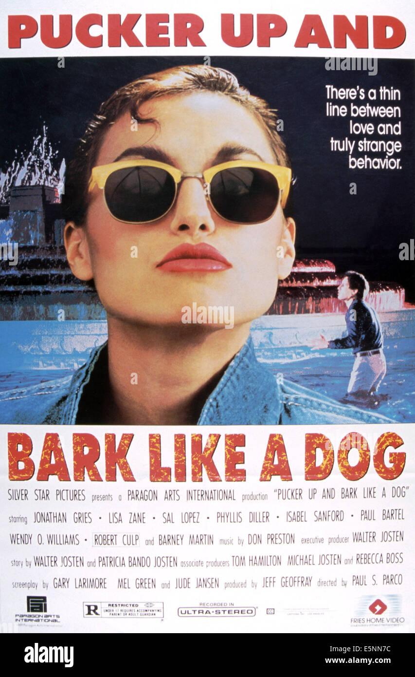 PUCKER UP AND RINDE wie ein Hund, Lisa Zane, 1990, © Fries Entertainment/Courtesy Everett Collection Stockbild