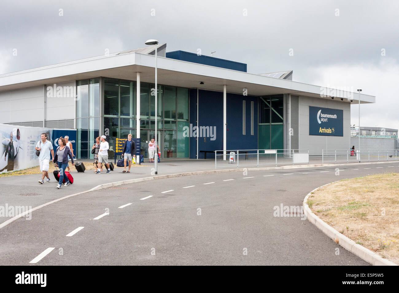 Bournemouth Airport Ankunftshalle Stockbild