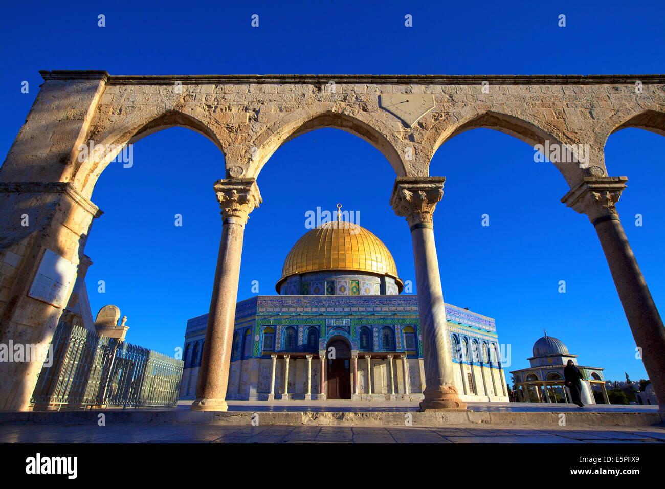 Die Kuppel des Rock, Tempelberg, UNESCO World Heritage Site, Jerusalem, Israel, Nahost Stockbild