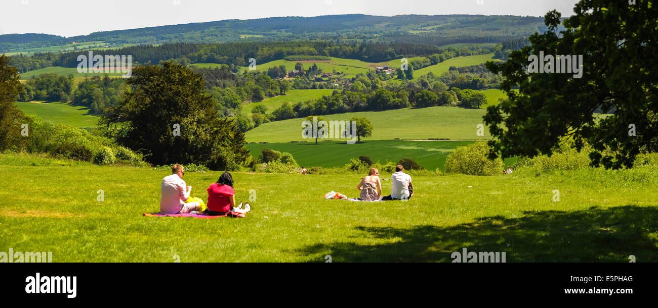 Box Hill, North Downs, Surrey Hills, Surrey, England, Vereinigtes Königreich, Europa Stockbild