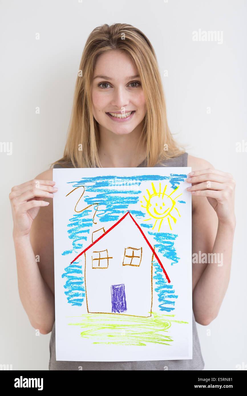 Konzept der Immobilien. Stockbild