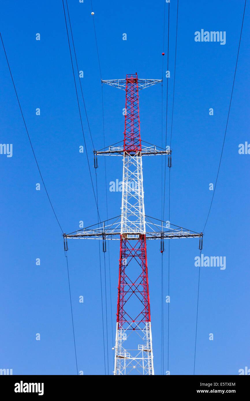 Elektrizität Mast Stockbild