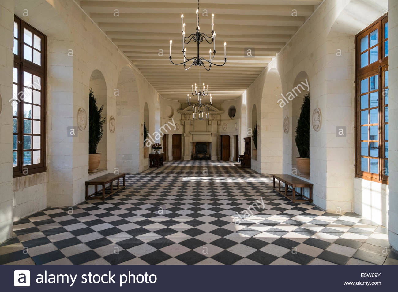 France Chateau Chenonceau Interior Stockfotos & France Chateau ...