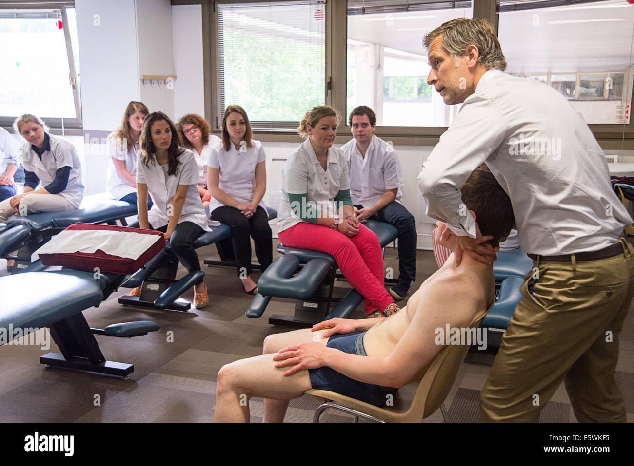 Chiropraktische Ausbildung Stockbild